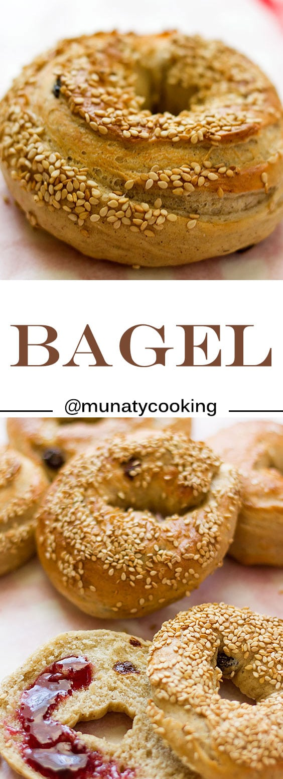 Bagel. Homemade delicious bagel recipe. No eggs used. Perfect quick breakfast. www.munatycooking.com   @munatycooking #bagelrecipe #bagel