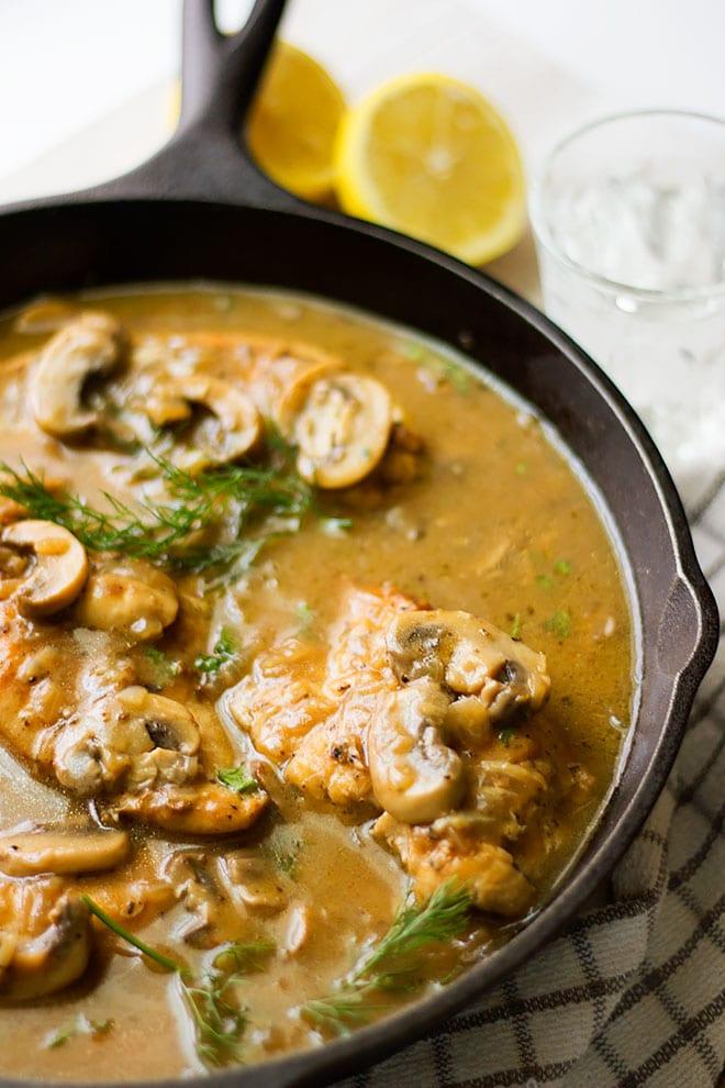 chicken with mushroom gravy recipe.