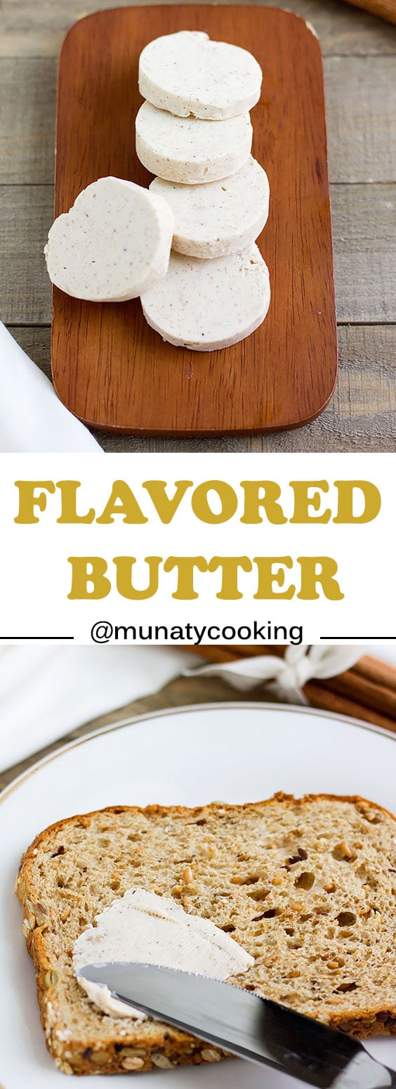 Flavored butter. A recipe for simple, homemade flavored butter perfect for pancakes and waffles. #butter #flavoredbutter #recipe #foodblog