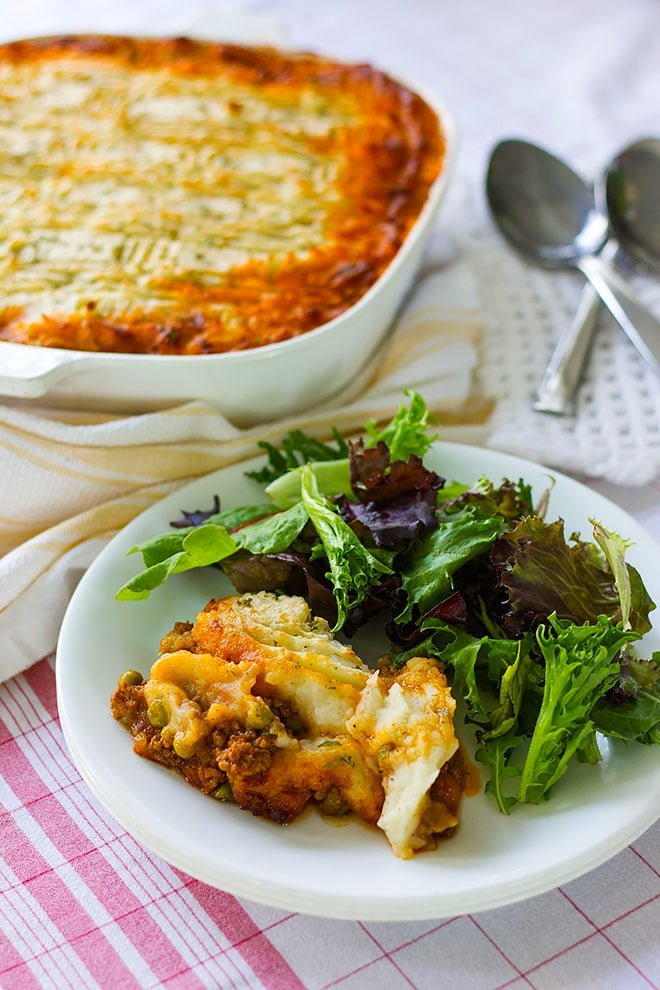 Easy to make shepherd's pie recipe.