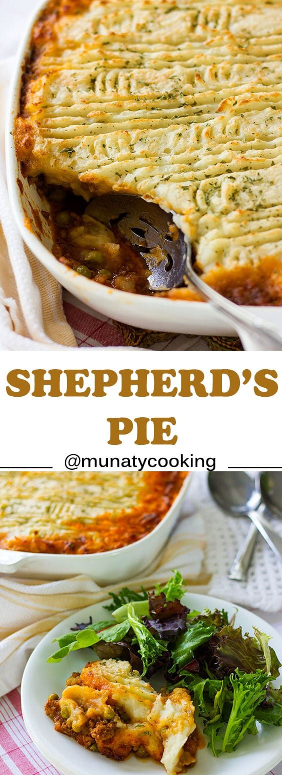 Shepherd's Pie Recipe. Creamy topping with thick and delicious filling. no flour used to thicken the sauce.