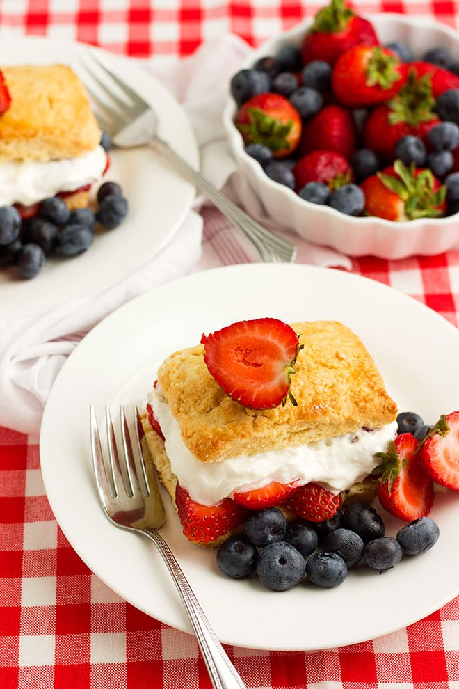 strawberry shortcake overhead shot. #shortcake #strawberry #dessert #recipe