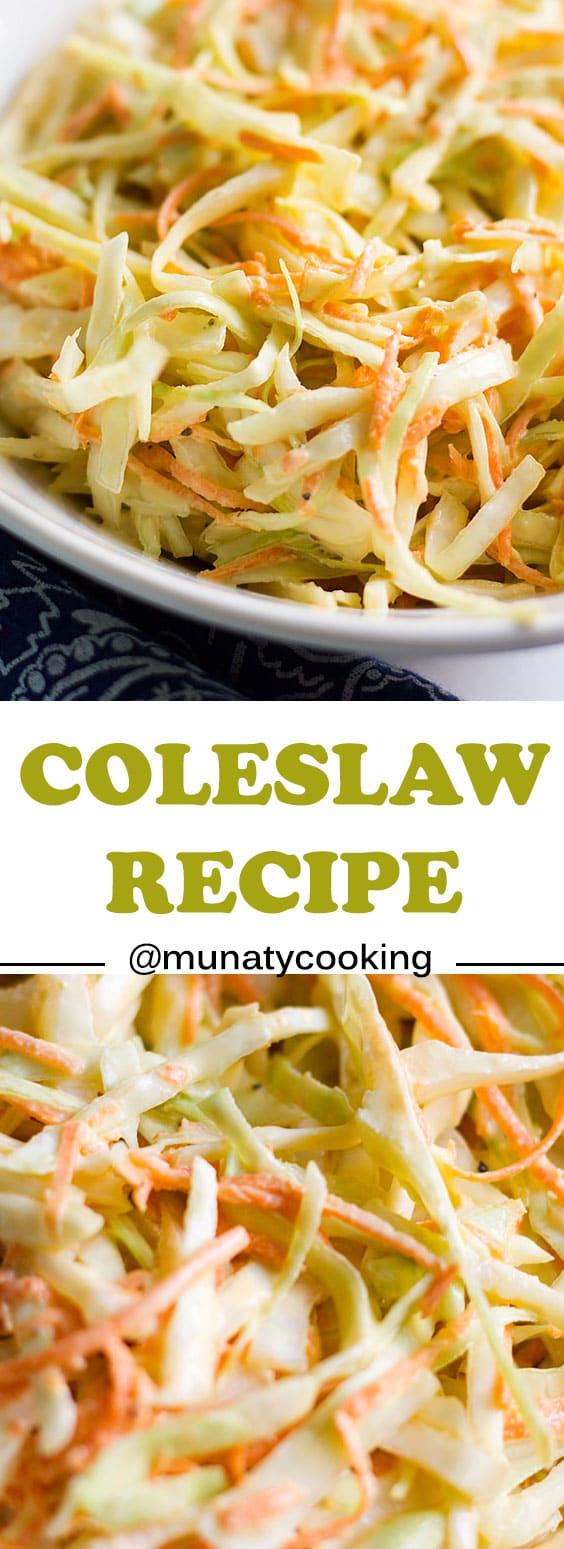 Coleslaw recipe. Learn ow to make coleslaw from scratch and using simple ingredients. This coleslaw tastes even better the next day.