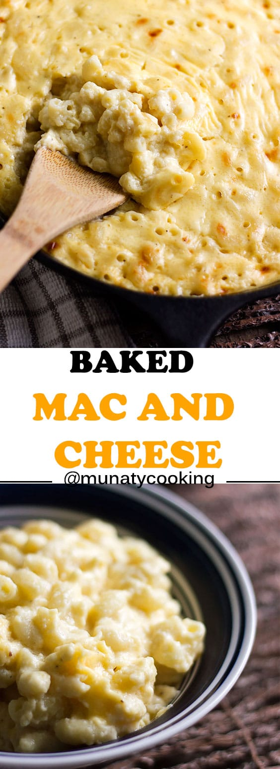 Baked mac and cheese recipe, made from scratch with creamy cheese sauce that will wow your family and guests. #macandcheese