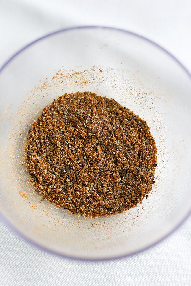 mixed spices for the chicken breast.