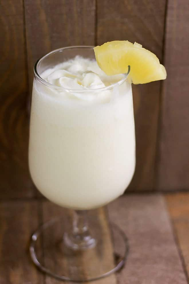 side image of pina colada recipe
