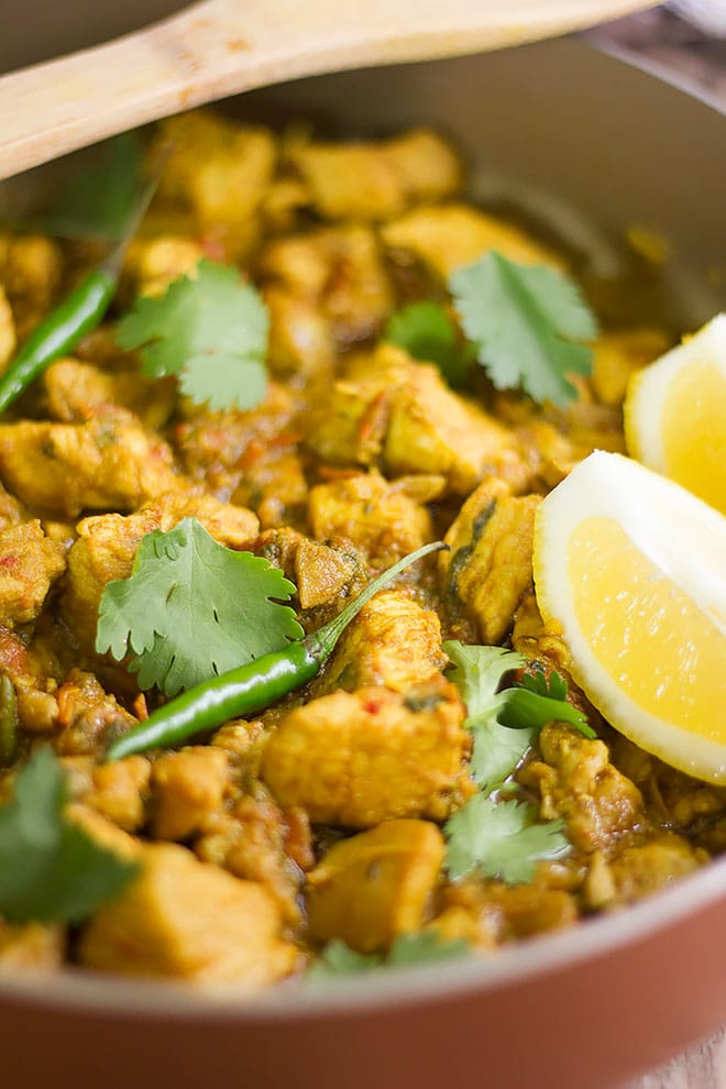 Chicken karahi a Pakistani recipe made of chicken and gravy.