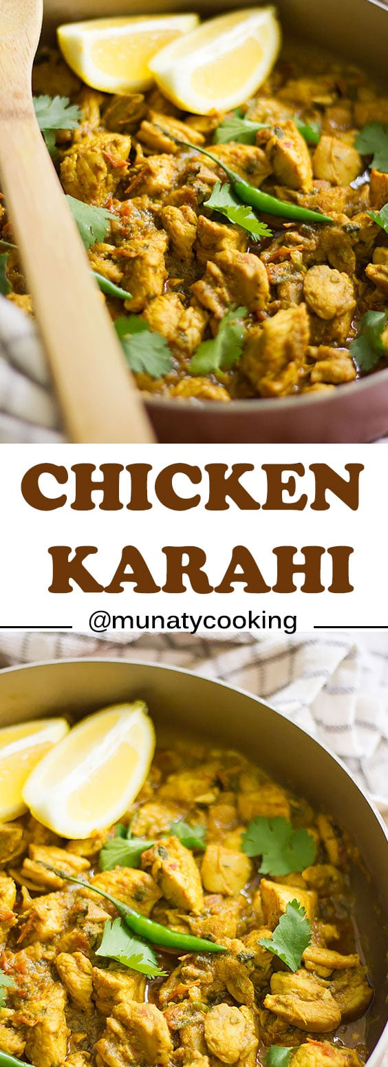 Chicken Karahi Recipe. Tender chicken thighs in a delicious gravy made with onion, tomatoes, a blend of spices. Perfect dinner recipe.