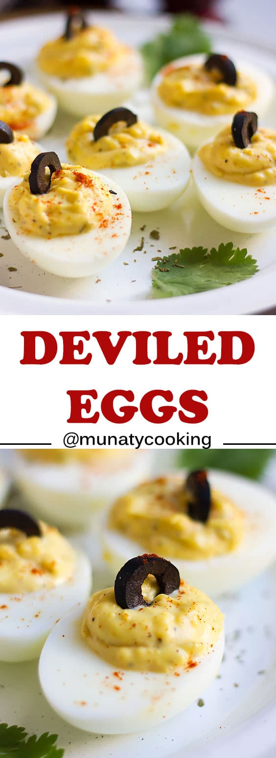 Deviled Eggs Recipe, the same delicious taste of the southern delight, perfect appetizer for your guest and family. #deviledeggs