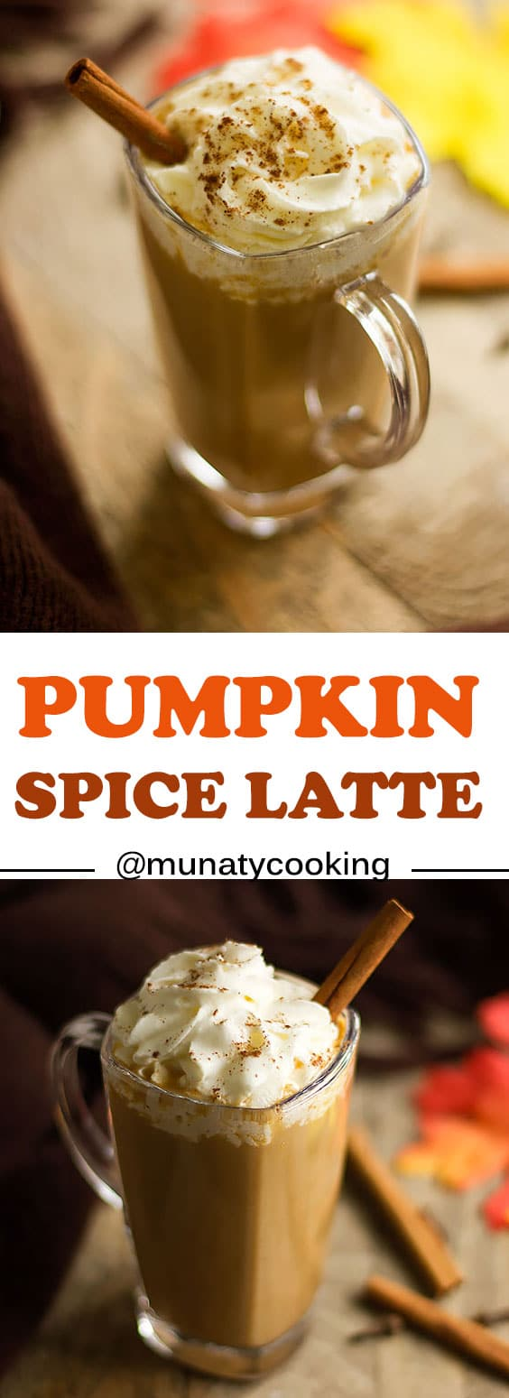 Pumpkin Spice Latte recipe, a creamy and delicious drink, perfect for the fall season. Make it with almond or coconut milk.