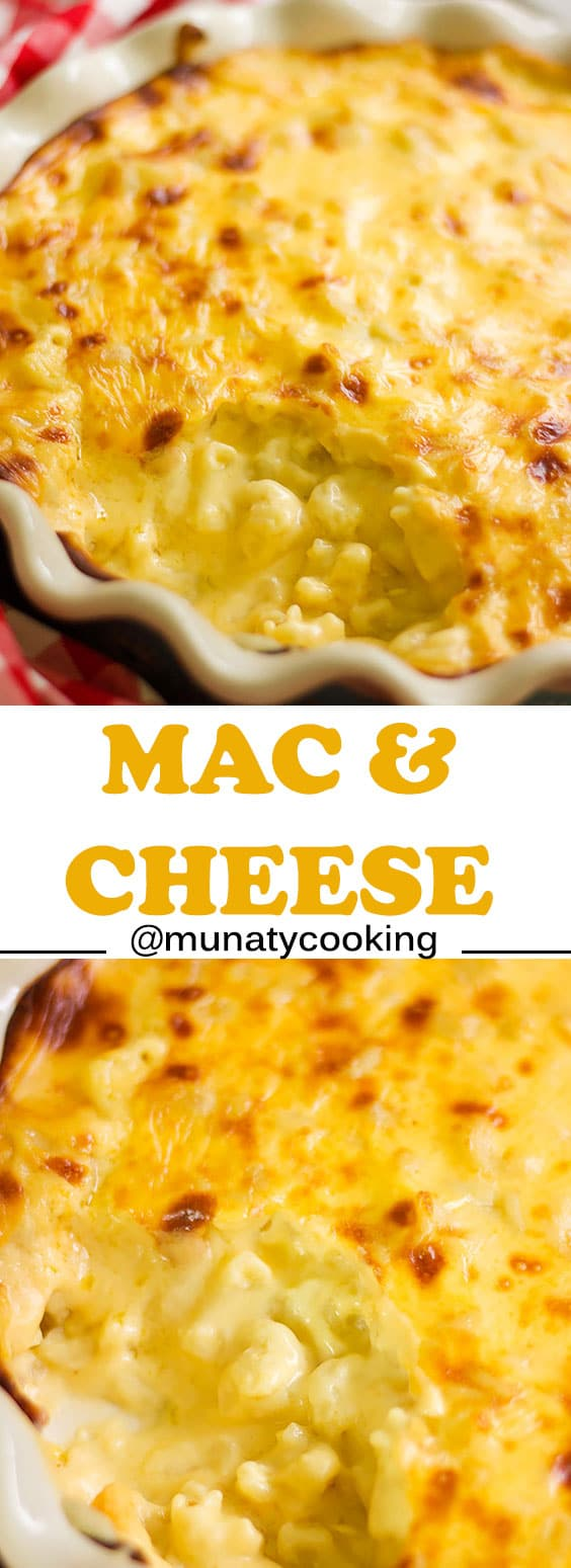 Baked Macaroni and Cheese Recipe, I have added a little more flavor by using a humble ingredient, check out the post to learn how to make the most delicious cheese sauce. munatycooking.com