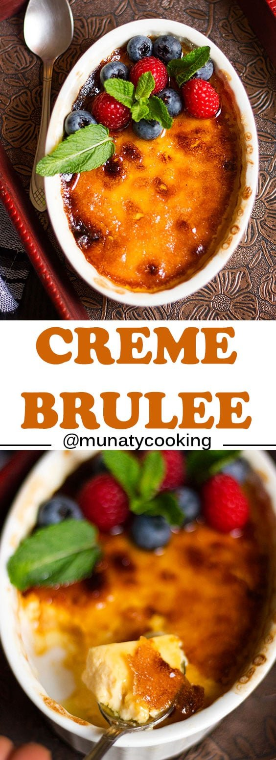 Creme Brulee Recipe! Easy to make delicious French dessert and it has only four ingredients. #cremebrulee #dessert