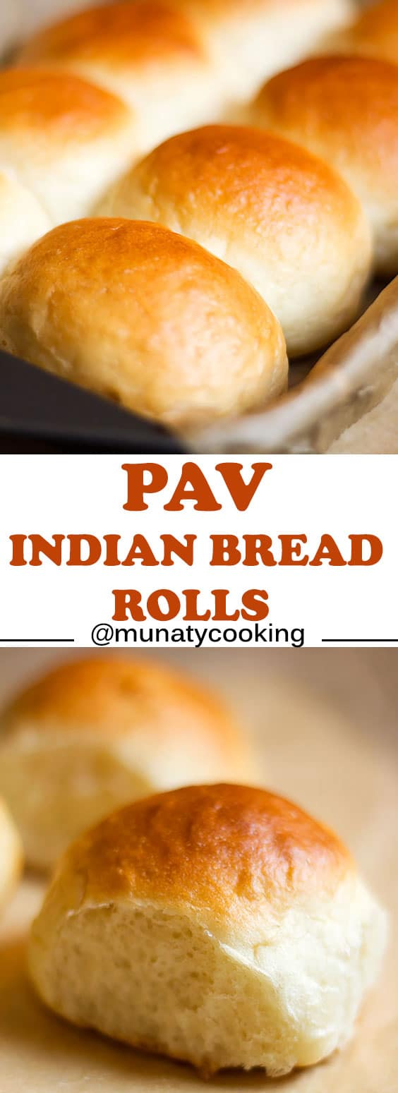 Pav, Indian version of dinner rolls. Soft and egg free. #dinnerrolls #bread #snack #indianfood
