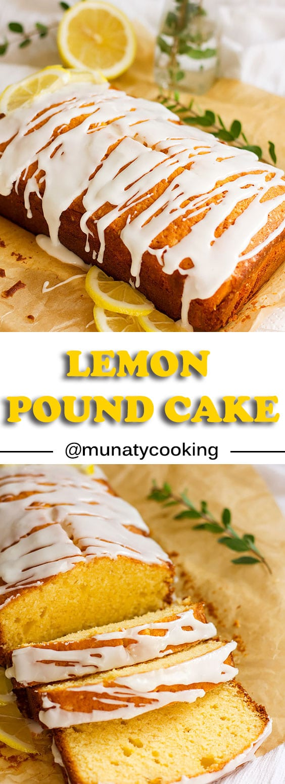 Lemon Pound Cake Recipe. Learn how to make a delicious pound cake perfumed with lemon zest and lemon icing. #poundcake #lemonpoundcake #cake