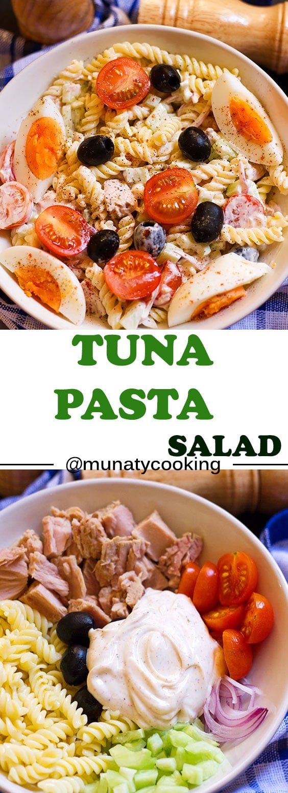 Tuna Pasta Salad Recipe. Best salad for BBQ and is a hearty salad so you can have it as brunch to keep you full.