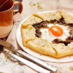 Feature image of mushroom and onion galette post.