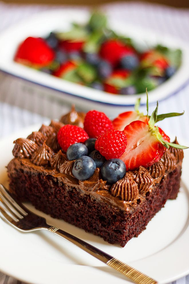 Egg Free Chocolate Cake 1