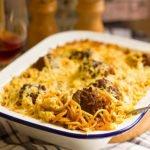 Feature image of meatball casserole post