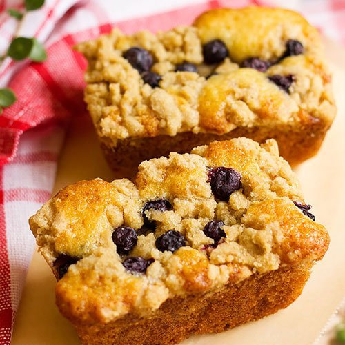Blueberry coffee cake small image.