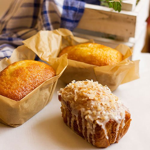 Easy coconut mini loaves