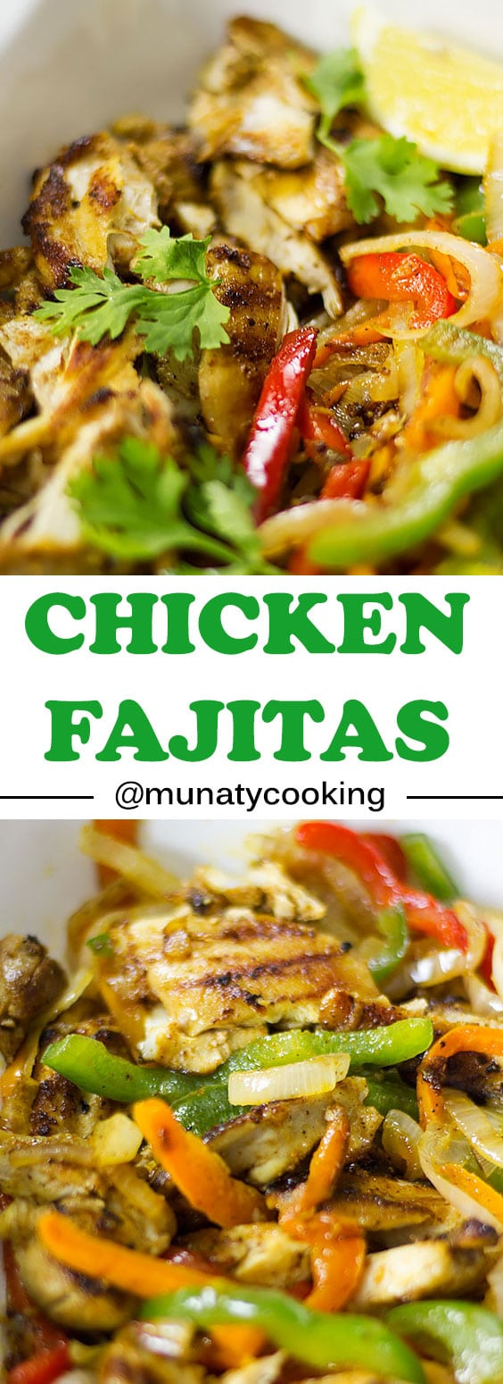 Chicken Fajitas Are Perfect Weeknight Dinner and parties! A mouthwatering Fajita Recipe that has tender chicken combination of colorful peppers, and great tasting seasoning. Easy homemade chicken fajitas are prepared in minutes #chickenrecipes #chicken #fajitas #chickenfajitas