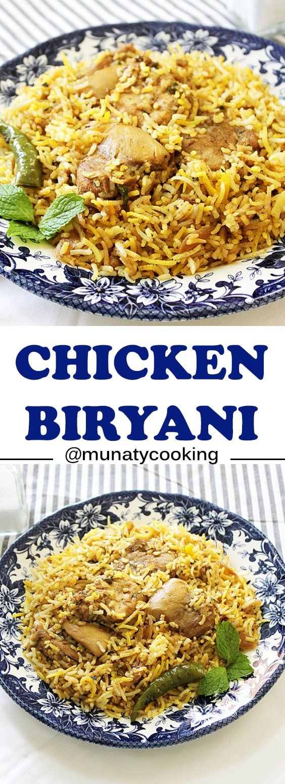 Chicken biryani made easy! It will take you 30 to 35 minutes to have this dish ready. Tender chicken pieces with fluffy and perfumed with saffron. This chicken biryani tastes like the biryani served at restaurants. #biryani #chickenbiryani #indianrecipes #chicken recipes