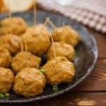 Small image of baked chicken meatballs.