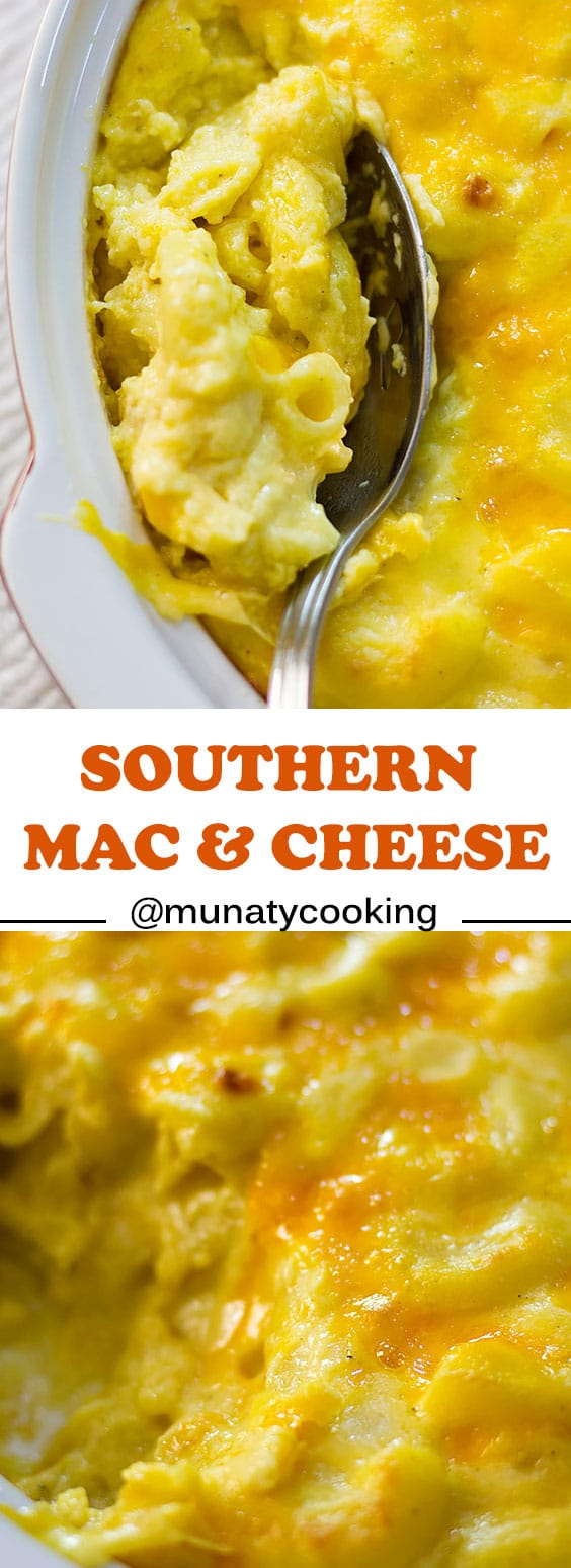 Southern mac and cheese recipe. A delicious cheese sauce baked with elbow macaroni, the steps are simple and you will enjoy every bit of it. Read the post for more tips. #macandcheese #macaroniandcheese #cheesesauce
