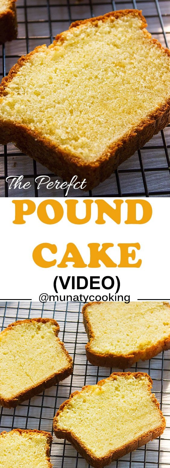 Truly the best pound cake recipe with tender and soft crumbs. Homemade and full of flavor. Watch the video and the step by step images to see how simple it is to make it! #poundcake #cakerecipe #baking #classicrecipe""
