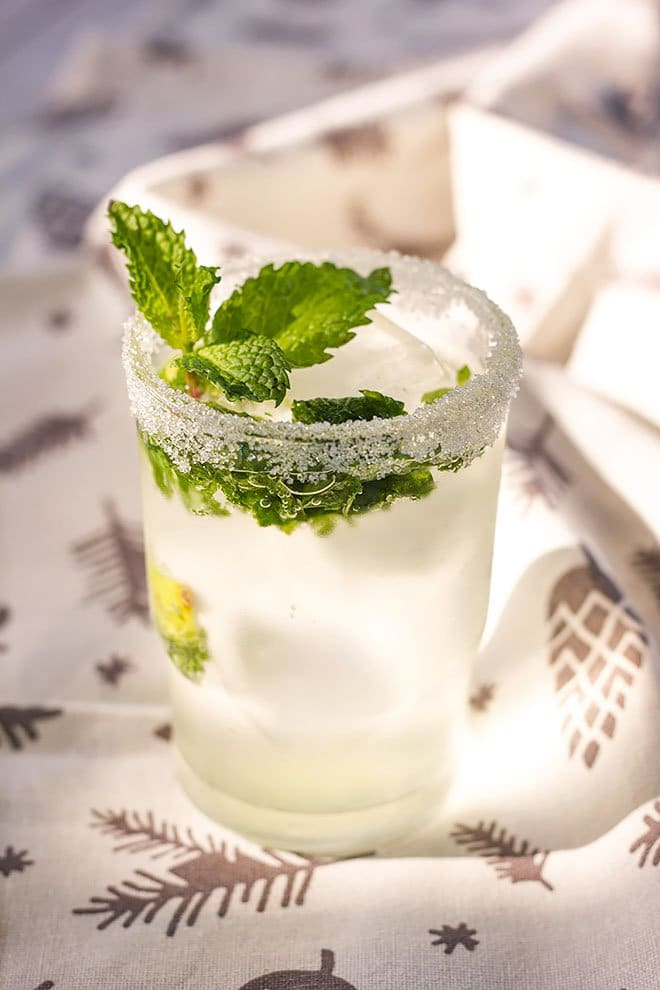 A close shot of Virgin mojito.