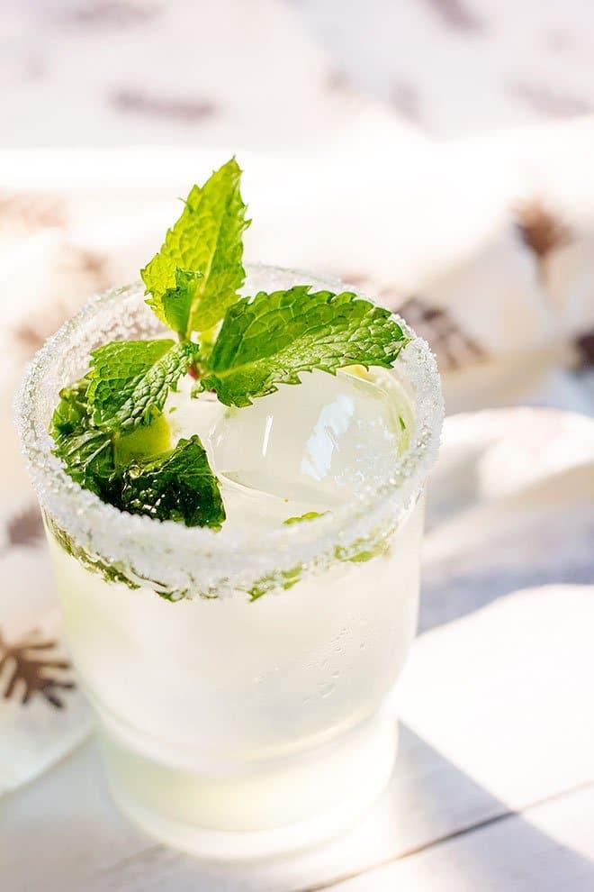 Virgin Mojito served in a glass.