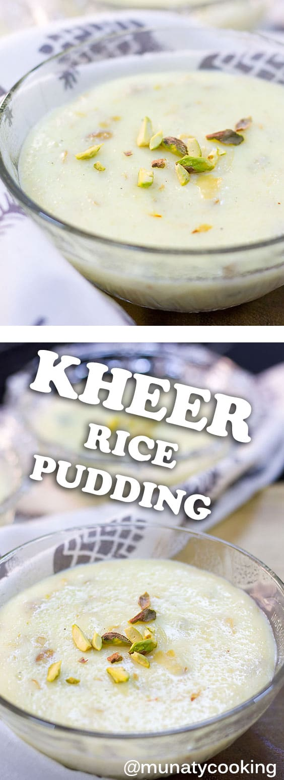 Rice Kheer, an Indian dessert served on special occasions and festivals. Creamy in texture and amazingly delicious. This dessert is perfumed with saffron and cardamom. Watch the video in the post to learn how to make this simple and awesome delight. #kheer #pudding #ricepudding #dessertrecipe #indiandessert.