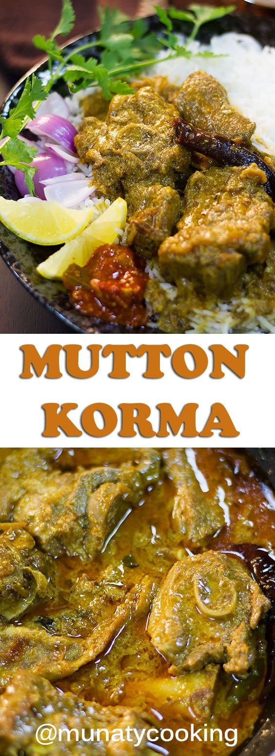 Mutton Korma is an Indian dish. Enjoy tender lamb pieces smothered in a flavorful gravy. Watch the video to learn how to make this easy recipe. #muttonkorma #curry #curryrecipe