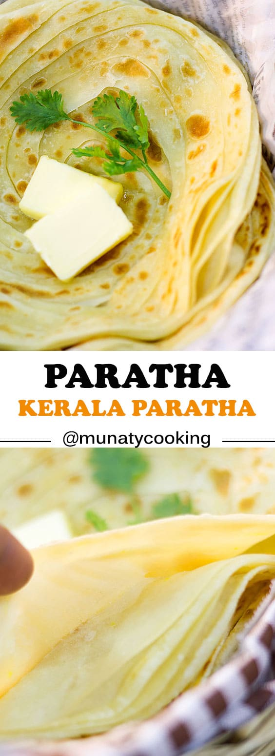 Paratha is a bread that's lightly fried, has crispy edges and a soft center. You can use ghee or oil to make this flatbread; however, if you want more flavor, stick with ghee.