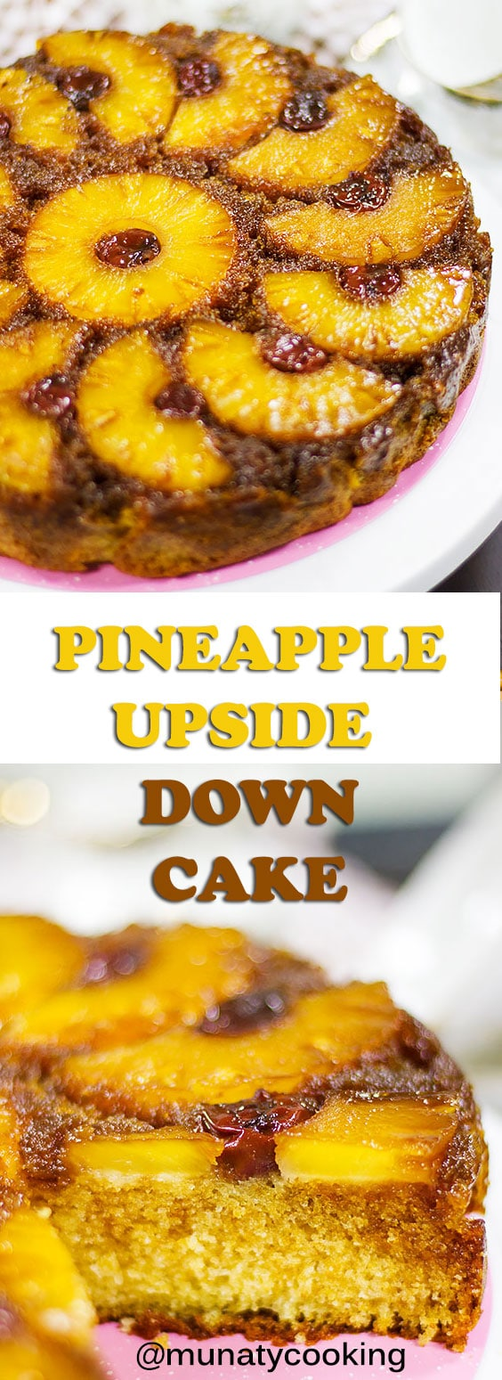 Pineapple upside down cake is a moist, delicious, and a good looking cake. With few simple ingredients you can make this elegant delight. #cake #pineapplerecipes #upsidedowncake #dessert