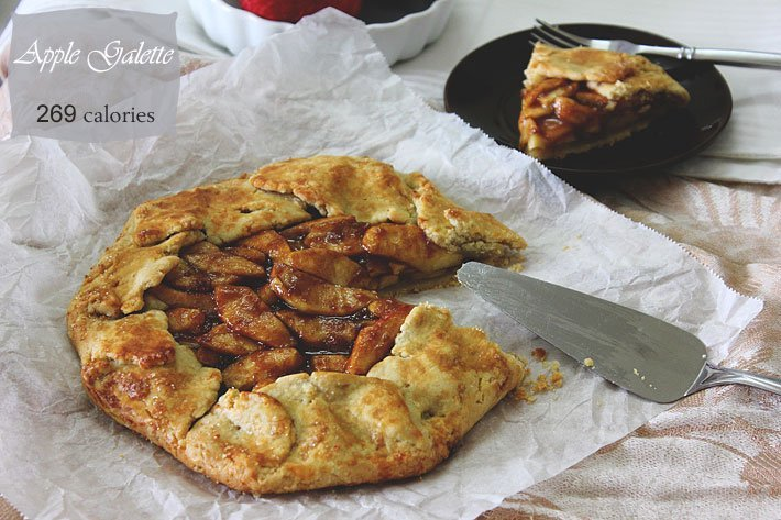 Apple galette freshly baked,