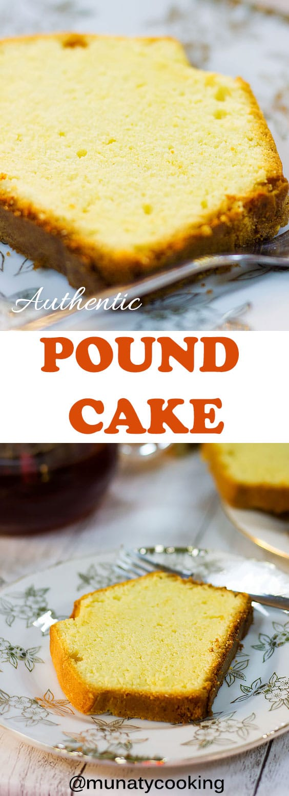 Pound cake is a butter cake with fine crumbs. The flavor of the cake is between a sugar cookie and a shortbread. #poundcake #authenticpoundcake #buttercake