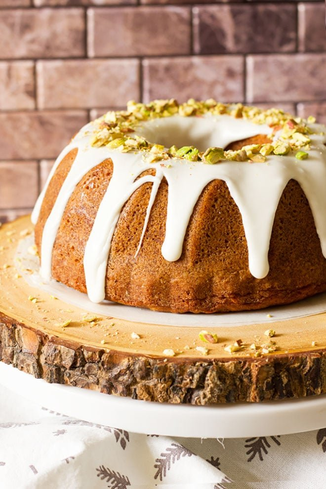 Pistachio Bundt Cake.