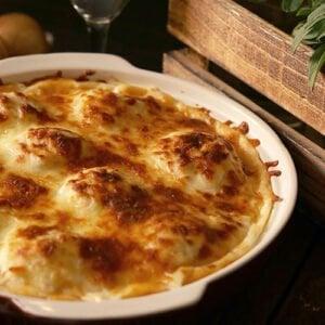 A small image of chicken and potato casserole