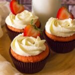 Small image of strawberry cupcakes.