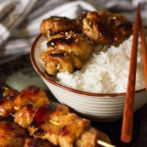 Small image of chicken teriyaki skewers.