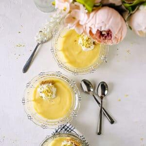 feature image of homemade vanilla pudding